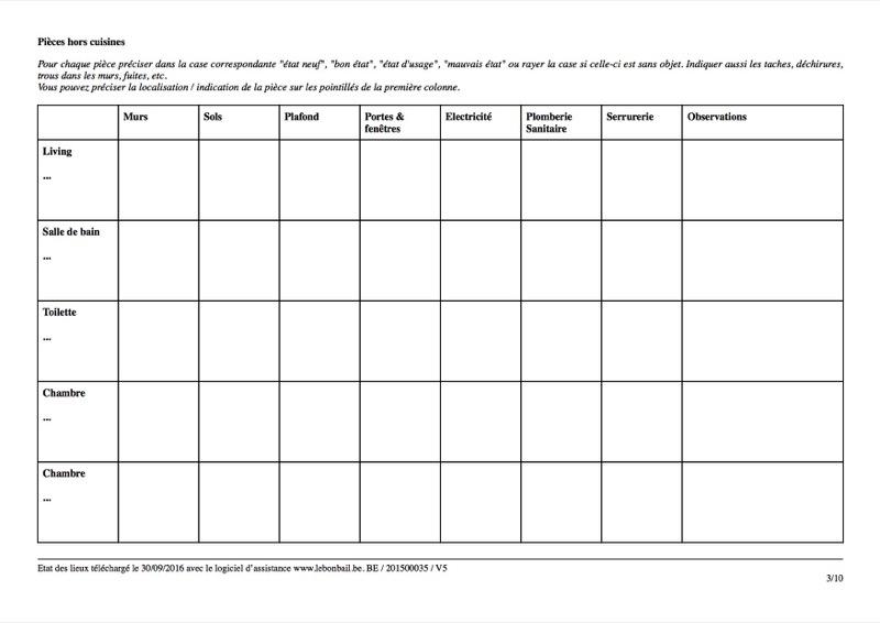 Exemple d'état des lieux - Page 3