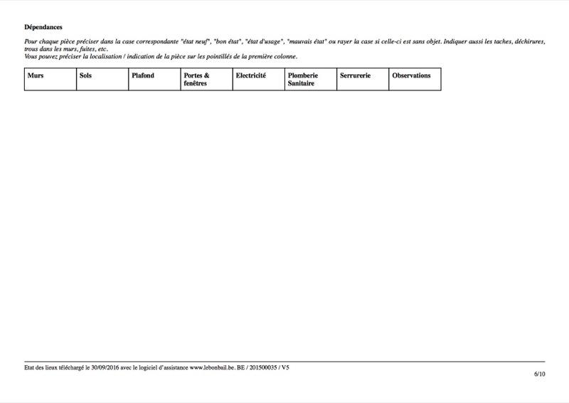 Exemple d'état des lieux - Page 6