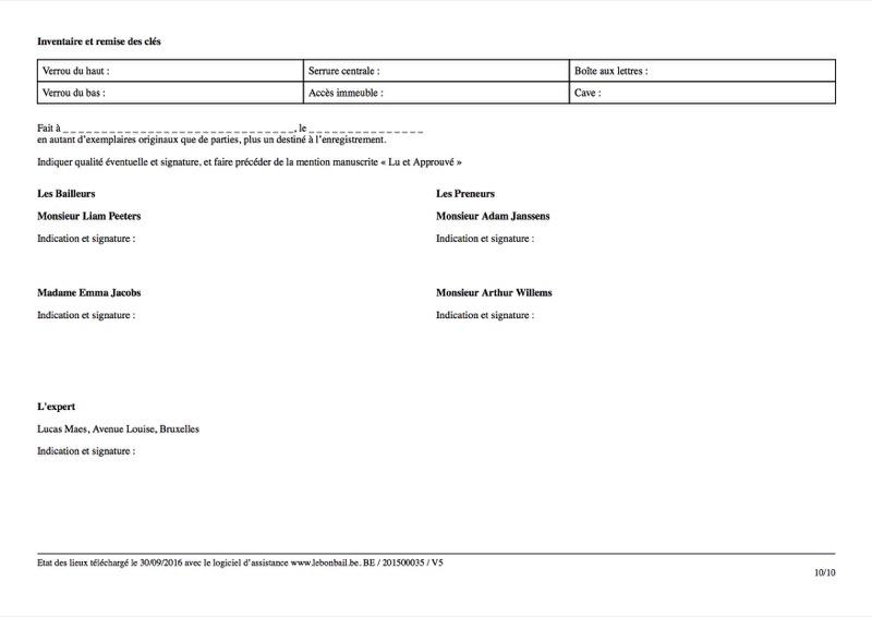 Exemple d'état des lieux - Page 10