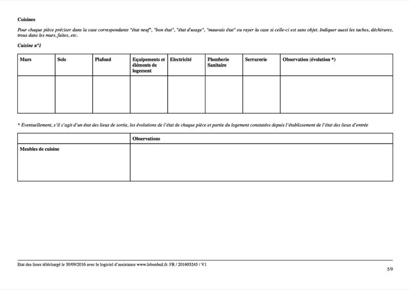 Exemple d'état des lieux - Page 5
