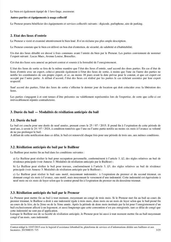 Exemple de contrat de bail - Page 3