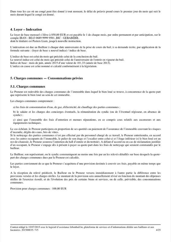 Exemple de contrat de bail - Page 4