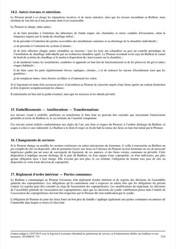 Exemple de contrat de bail - Page 7