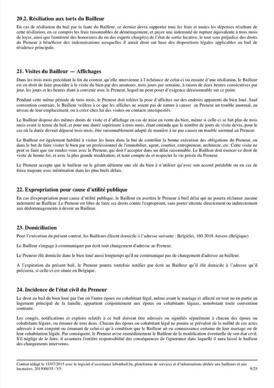 Exemple de contrat de bail - Page 9