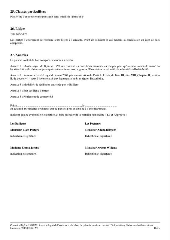 Exemple de contrat de bail - Page 10