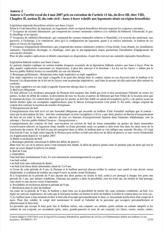 Exemple de contrat de bail - Page 12