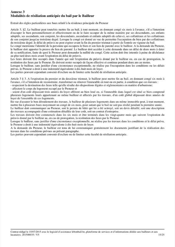 Exemple de contrat de bail - Page 15