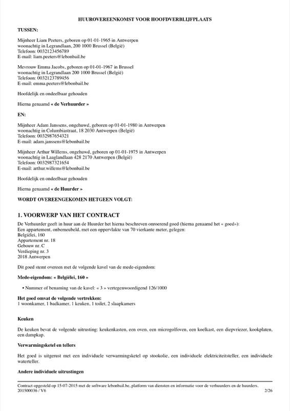 Voorbeeld van huurcontract - Pagina 2