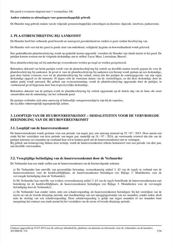 Voorbeeld van huurcontract - Pagina 3