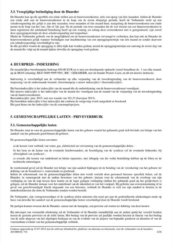 Voorbeeld van huurcontract - Pagina 4