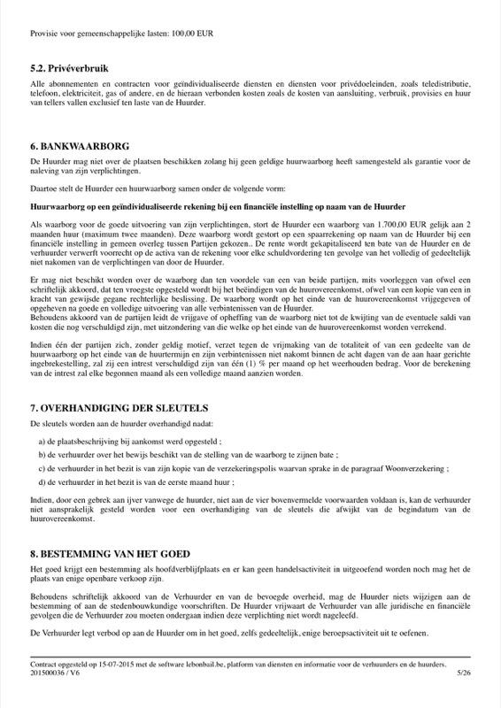 Voorbeeld van huurcontract - Pagina 5