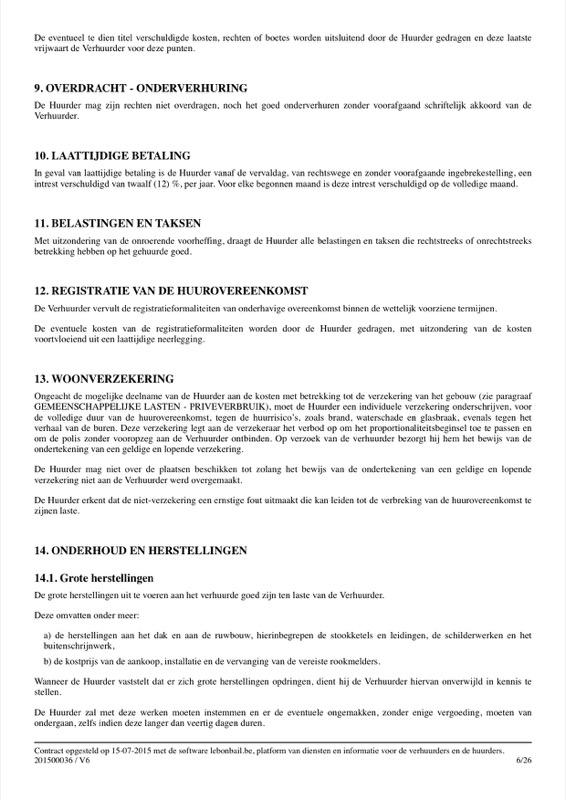 Voorbeeld van huurcontract - Pagina 6