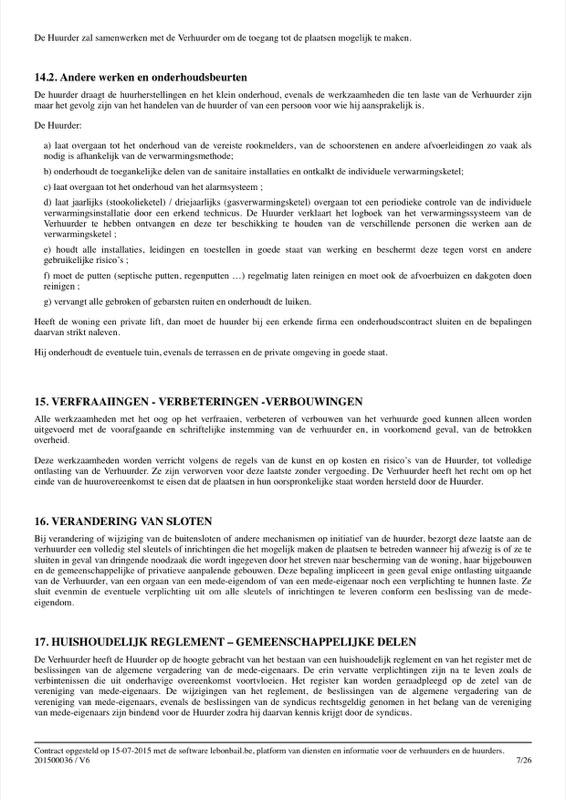 Voorbeeld van huurcontract - Pagina 7