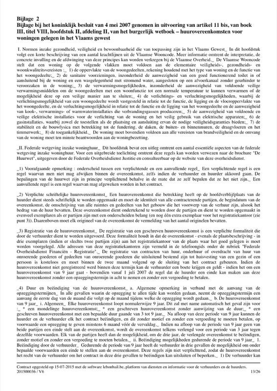 Voorbeeld van huurcontract - Pagina 13