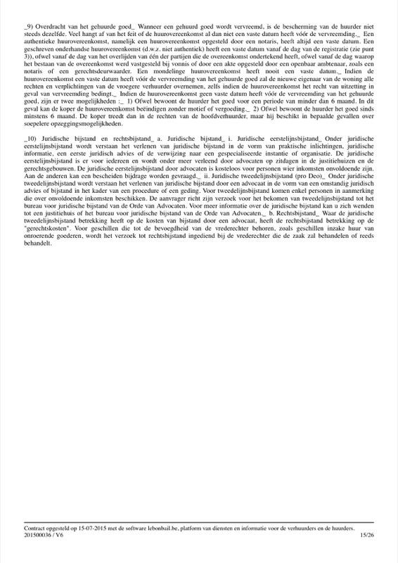 Voorbeeld van huurcontract - Pagina 15