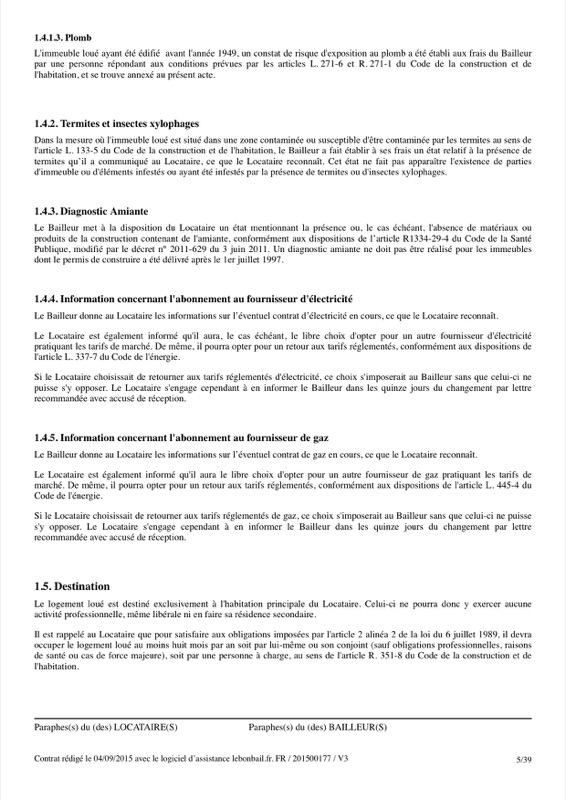 Exemple de contrat de bail - Page 5