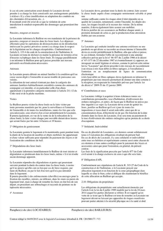 Exemple de contrat de bail - Page 11