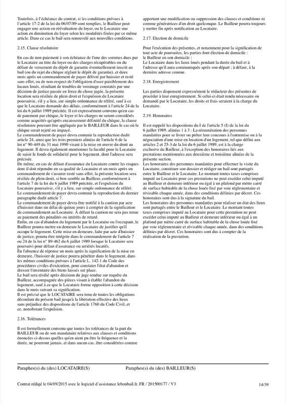 Exemple de contrat de bail - Page 14