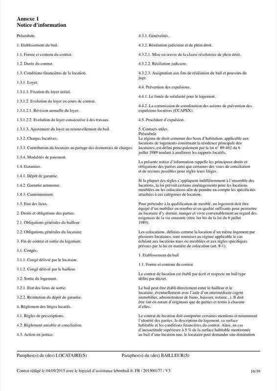 Exemple de contrat de bail - Page 16