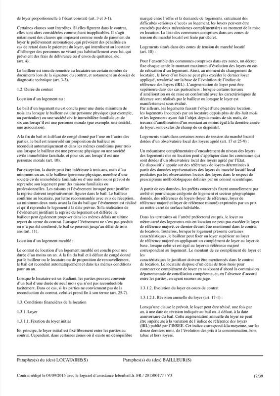 Exemple de contrat de bail - Page 17