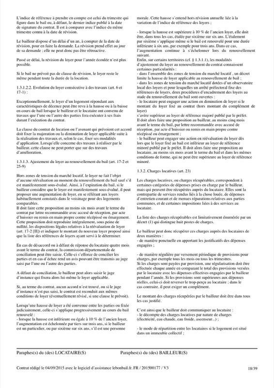 Exemple de contrat de bail - Page 18