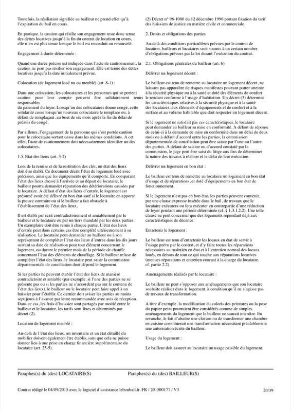 Exemple de contrat de bail - Page 20