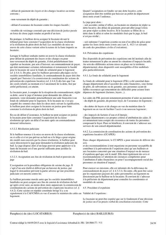Exemple de contrat de bail - Page 24