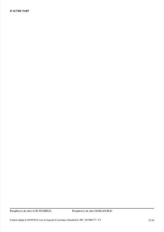 Exemple de contrat de bail - Page 27