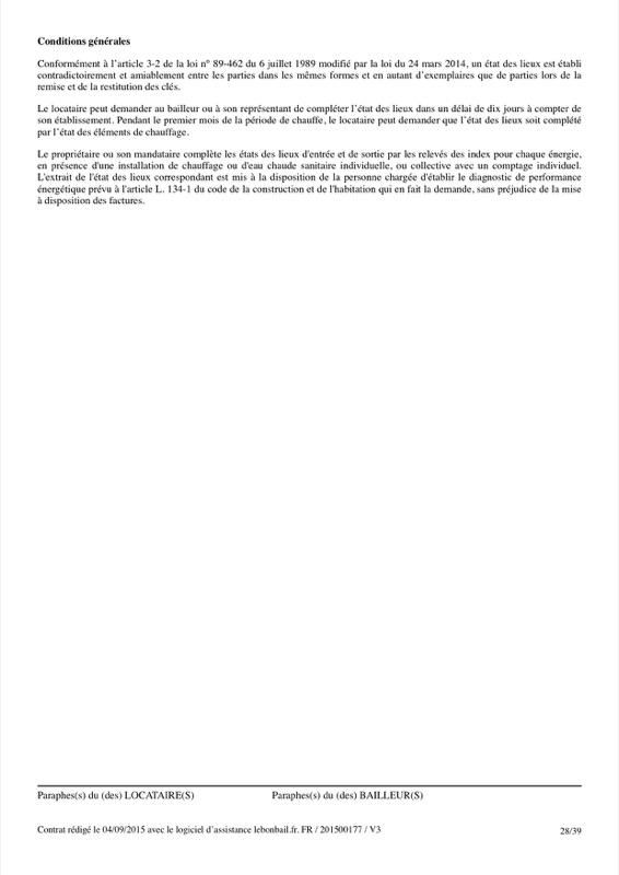 Exemple de contrat de bail - Page 28
