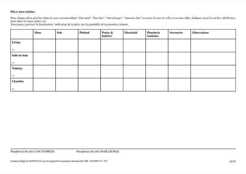 Exemple de contrat de bail - Page 29