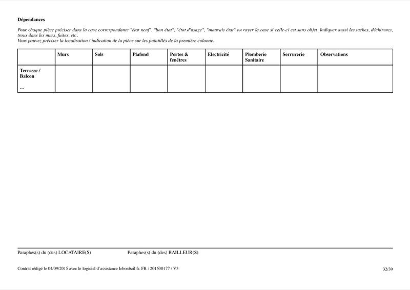 Exemple de contrat de bail - Page 32