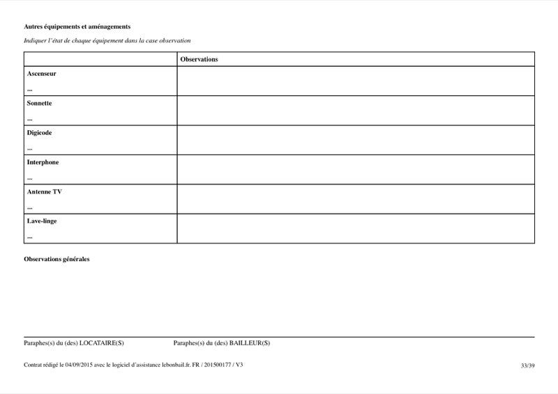 Exemple de contrat de bail - Page 33