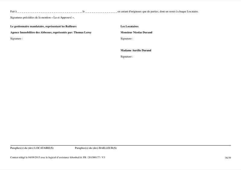 Exemple de contrat de bail - Page 36
